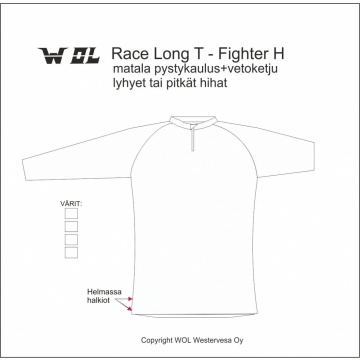 LP RACE LONG TEE piirrosmalli