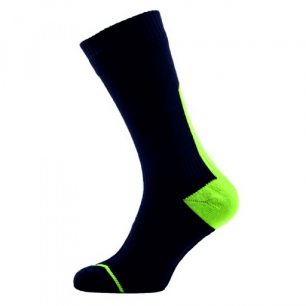 Sealskinz Road thin Mid with Hydrostop musta-lime